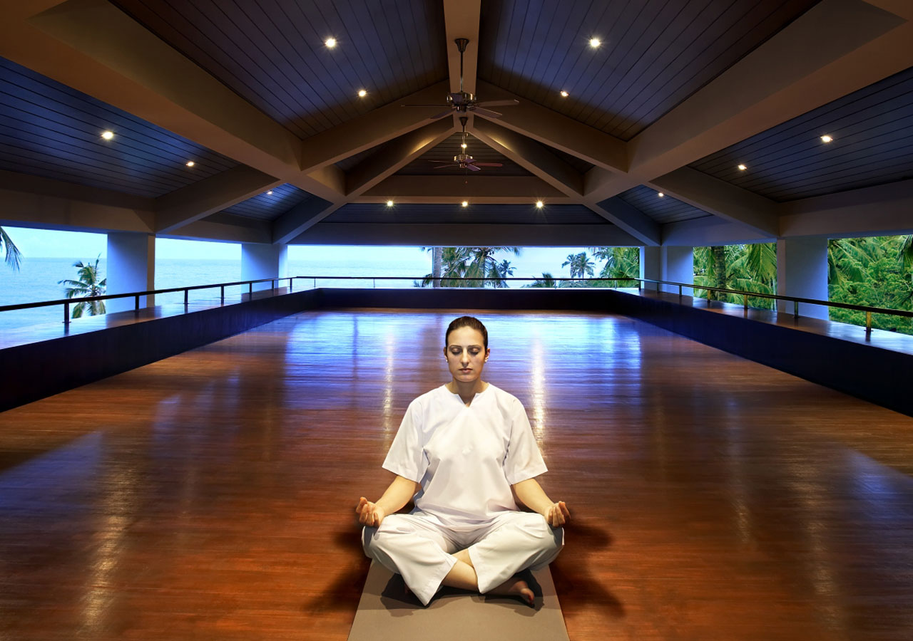 Leela Kovalam - yoga hall